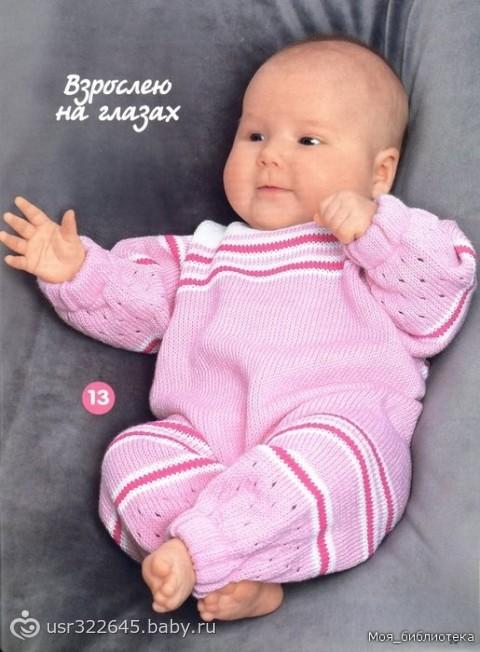 Постоянная ссылка: Детский комбинезон, вязаный спицами. 9:50 пп. Посмотреть все записи автора admin