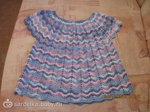 вязание крючком схемы круглой кокетки на детское платье