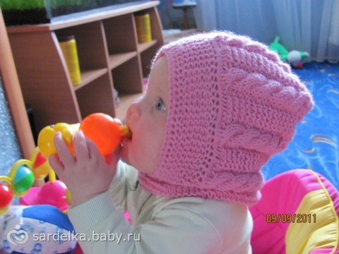 Шапка-шлем для девочки - Рукоделие