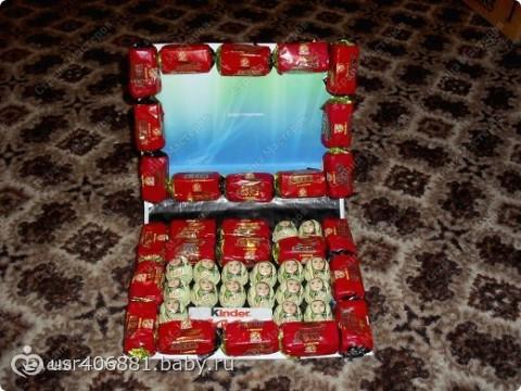 Подарок из конфет на день рождения подруге на