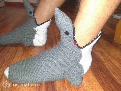 подарок мужу - носки акулы