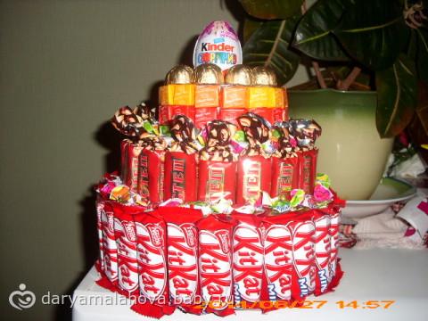 Поздравления с днем рождения торт из конфет