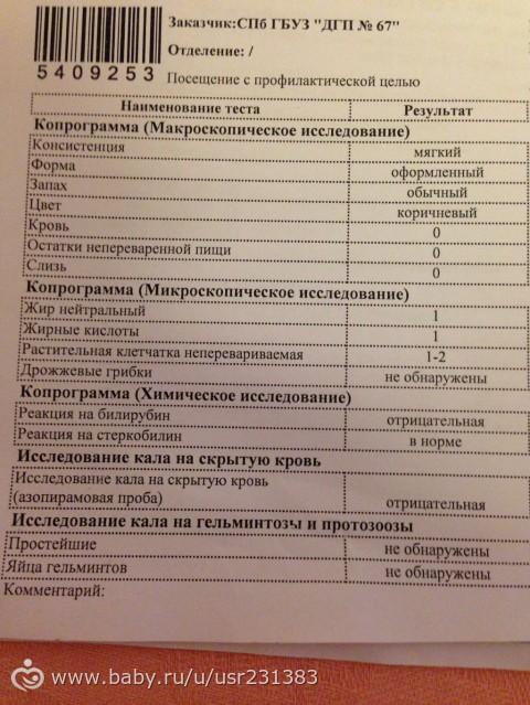 Анализ кала у беременных 27