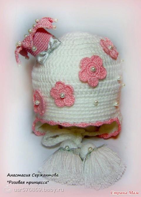 Зимняя шапка крючком для девочки - Делаем фенечки своими руками