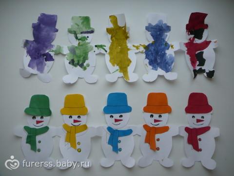 Как сделать гирлянду из бумаги снеговиков