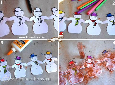 Изготовление новогодней гирлянды своими руками