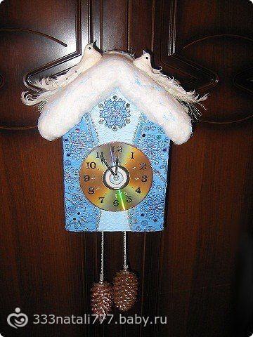 Часы новогодние поделка своими руками с детьми