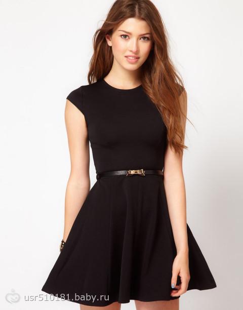 Фото черное платье с пышной юбкой