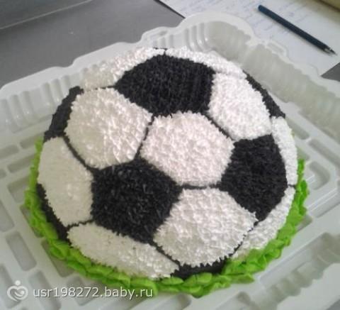 Торт мяч футбольный кремовый мастер класс