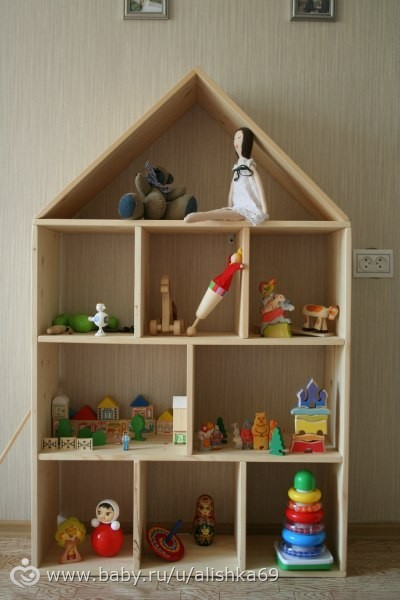 Сделать полку для игрушек своими руками