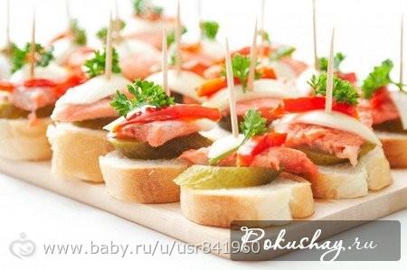 Закуски и бутерброды с фото