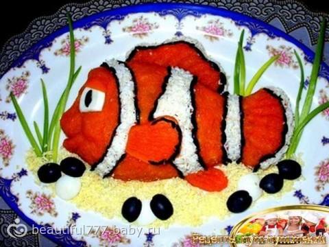 Рецепты салатов рыбой фото