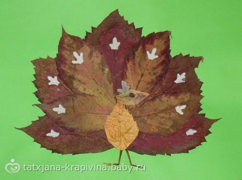 Поделки с детьми из осенних листьев
