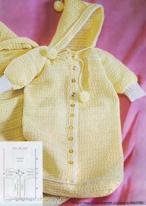 Вязание спицами и крючком - Азбука вязания. . Для выреза горловины вязаного конверта для новорожденного на высоте