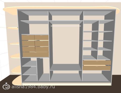 Шкаф купе от стенки до стенки своими