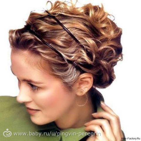 Греческая вечерняя прическа на средние волосы