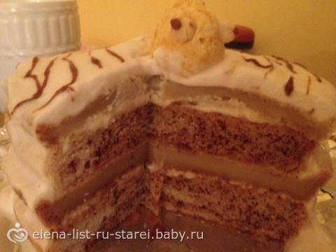 Торт для аллергиков без молока и глютена