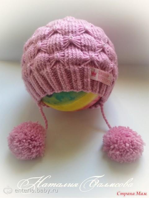 Мастер класс вязания шапочки для девочки спицами до года