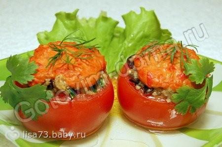 фаршированный помидор фаршем рецепт с фото