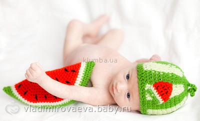 Как связать шапочку для новорожденного для фотосессии