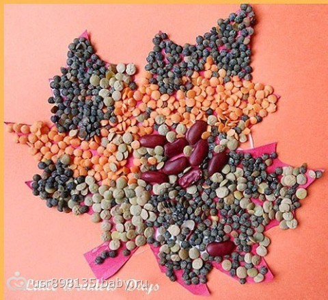 Осенние поделки из бобовых своими руками 84