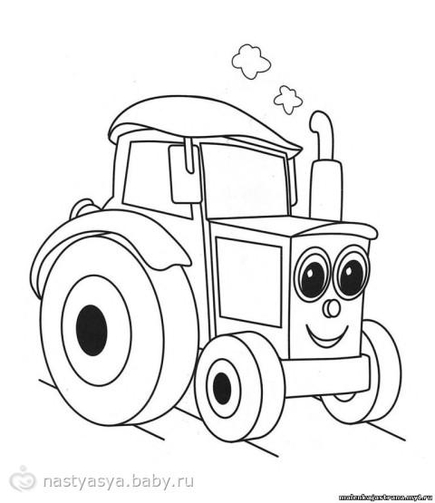 Раскраски машинок для детей 3-4 лет