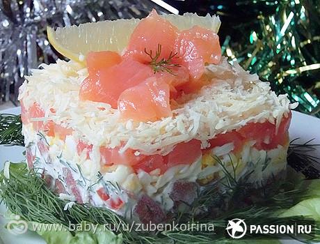 Салат с красной рыбой и маслом рецепт