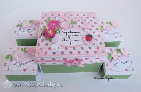 Коробка для первых детских вещей своими руками