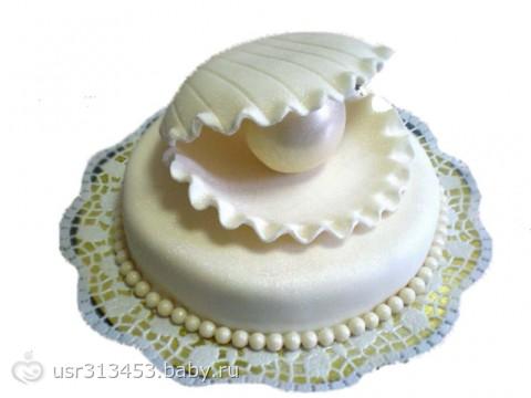Жемчужина в раковине торт