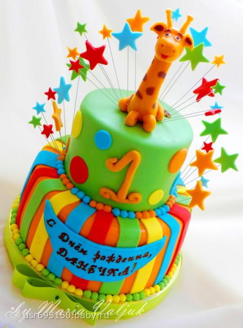 Детский торт на 1 год для мальчика фото