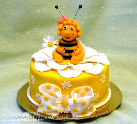 Фото торта пчелка