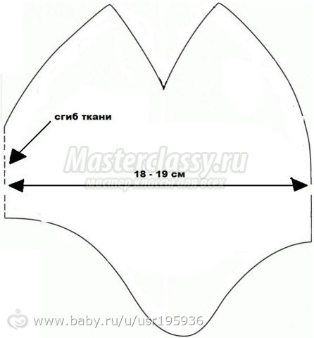 Выкройка трикотажной шапочки для новорожденного