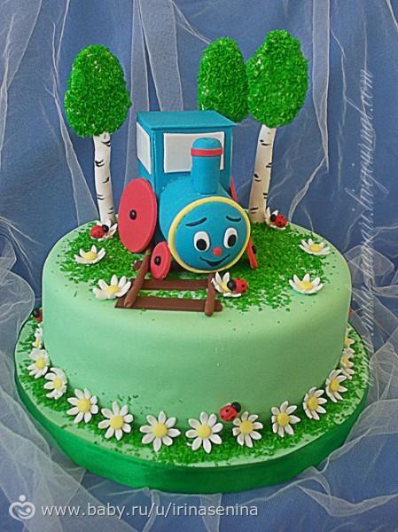 Торт паровозик фото