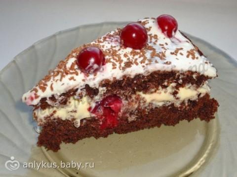 Рецепты тортов шоколадные с вишней