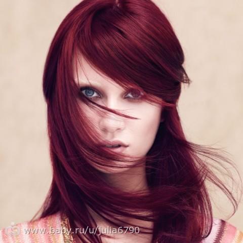 Цвет волос темная вишня фото