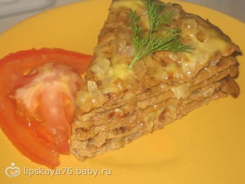 Печеночный тортик от меня))))самый простой и вкусный рецепт
