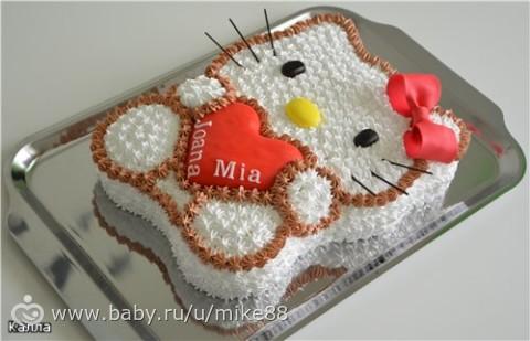 Торт девочке на день рождения своими руками