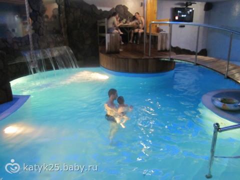 сауны с большим бассейном с фото