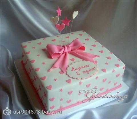 Детские тортики фото с мастики для девочки