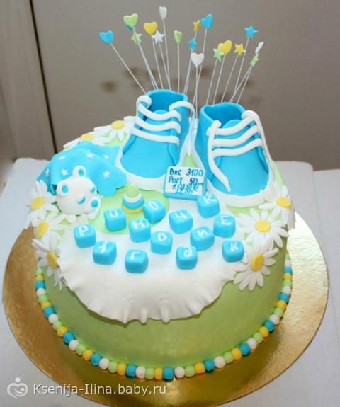 Фото тортов на годик сыну