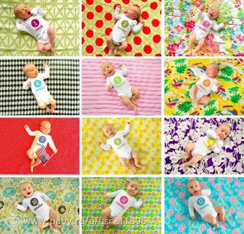 Идеи фото младенцев по месяцам