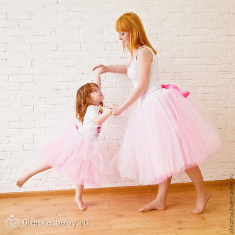 Юбка из фатина для мамы и дочки