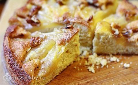 Пирог из груши рецепт с фото простой