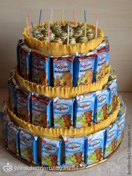 Торты из сладостей для садика своими руками
