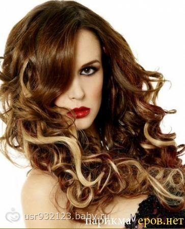 Мелирование на вьющиеся волосы фото