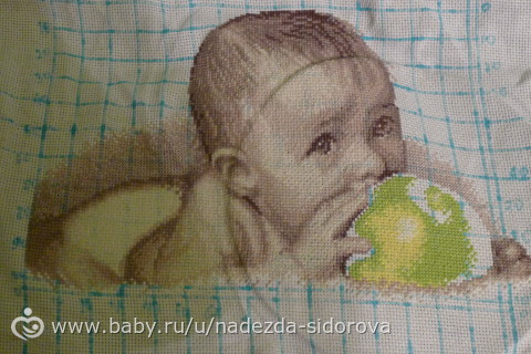 Вышивка крестом малыш и мама