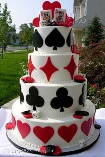 Украшение тортов фото колода карт