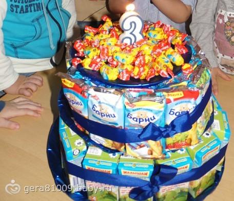 Торт из сока и барни своими руками пошаговое фото