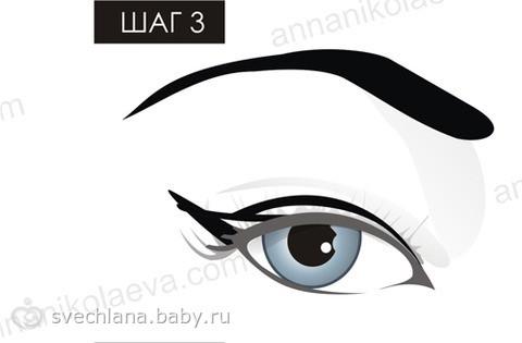 Как ровно накрасить стрелки на глазах