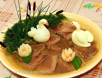 Украшение блюд и салатов фото